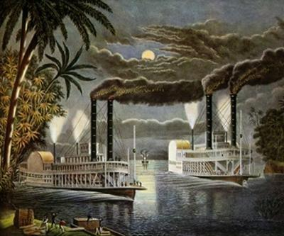 Riverboats on the Mississippi, Ca. 1850S
