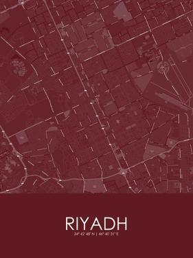 Riyadh, Saudi Arabia Red Map