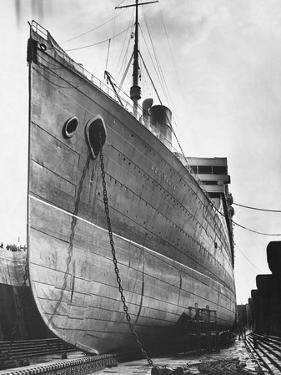 RMS Aquitania in Dry Dock