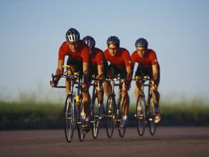 Road Cycling Team in Action