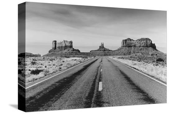 Road to Monument Valley, Arizona--Stretched Canvas Print