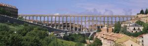 Road under an Aqueduct, Segovia, Spain