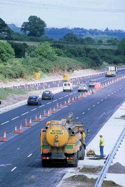Roadworks on M27 Motorway