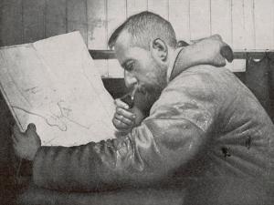 Roald Amundsen in the Cabin of His Ship Gjoa