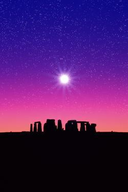 STONEHENGE WITH SPECIAL EFFECT SKY IN ENGLAND by Rob Atkins