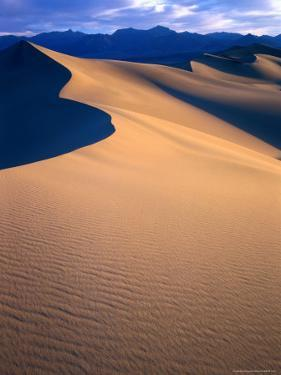 Sand Dunes Near Stovepipe Wells in California's Death Valley, Death Valley, California, USA by Rob Blakers