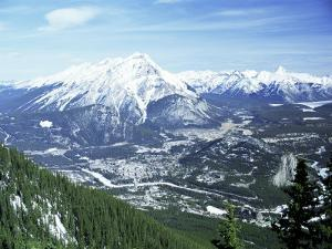 City of Banff from Sulphur Mountain, Alberta, Rockies, Canada by Rob Cousins