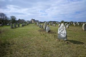 Megalithic Stones in the Menec Alignment at Carnac, Brittany, France, Europe by Rob Cousins