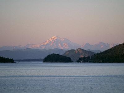 Mount Baker from San Juan Islands, Washington State, USA