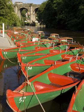 Rowing Boats for Hire on the River Nidd at Knaresborough, Yorkshire, England, United Kingdom by Rob Cousins