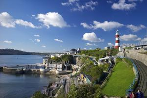 Smeaton's Tower on The Hoe overlooks The Sound, Plymouth, Devon, England, United Kingdom, Europe by Rob Cousins