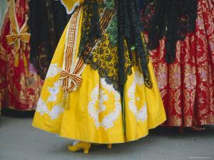 Traditional Dresses, Las Fallas Fiesta, Valencia, Spain, Europe by Rob Cousins