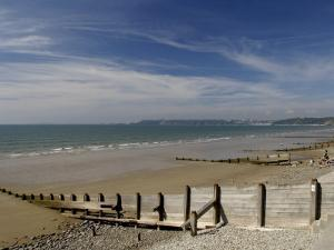 Wooden Groyne on the Beach at Amroth, Pembrokeshire, Wales, United Kingdom by Rob Cousins