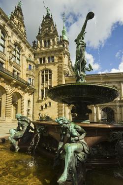 Neo-Renaissance Statues and Fountain at the Hamburg Rathaus, Opened 1886, Hamburg, Germany, Europe by Rob Francis