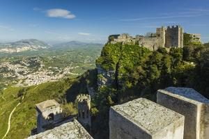 Saracen Arab Era Pepoli Castle, Now a Hotel, in Historic Town High Above Trapani at 750M by Rob Francis