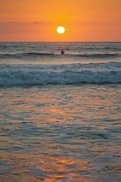 Sunset at Playa Guiones Surfing Beach by Rob Francis