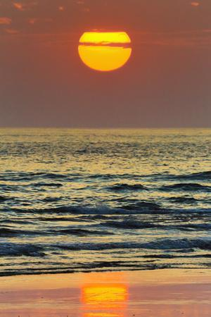 The Sun Setting Off Playa Guiones Surf Beach