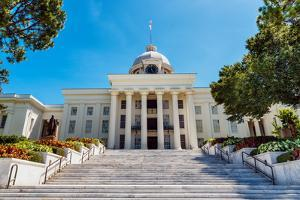 Front View of State Capitol in Montgomery, Alabama by Rob Hainer