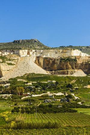 Quarry for Highly Prized Pearl Marble
