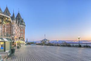 Canada, Quebec, Quebec City, Dufferin Terrace at Dawn by Rob Tilley
