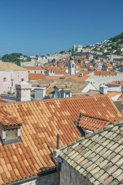 Croatia, Dubrovnik, Old Town Rooftops from the City Wall by Rob Tilley