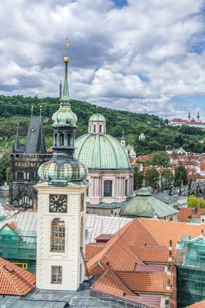 Czech Republic, Bohemia, Prague, Prague Rooftops
