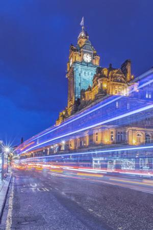 Great Britain, Scotland, Edinburgh. Princes Street at twilight by Rob Tilley