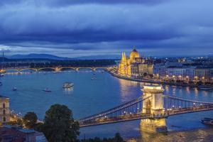 Hungary, Budapest, Twilight Danube by Rob Tilley