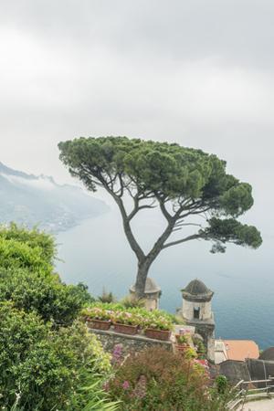 Italy, Amalfi Coast, Ravello, View of Coastline from Villa Rufolo by Rob Tilley