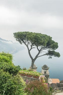 Italy, Amalfi Coast, Ravello, View of Coastline from Villa Rufolo by Rob Tilley