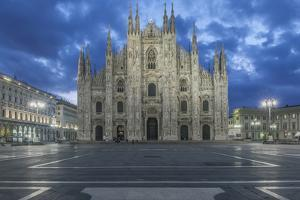 Italy, Milan, Cathedral Duomo di Milano at Dawn by Rob Tilley