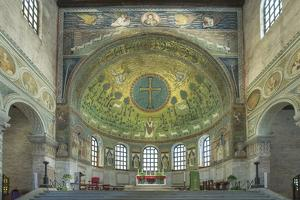 Italy, Ravenna, Basilica of Sant'Apollinare in Classe Interior by Rob Tilley