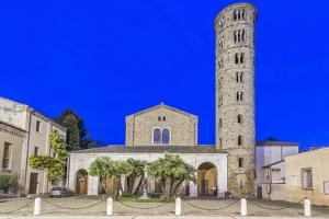 Italy, Ravenna, Basilica of Sant'Apollinare Nuovo at Twilight by Rob Tilley