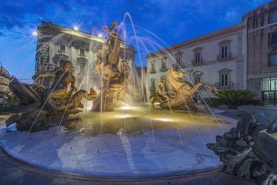 Italy, Sicily, Syracuse, Twilight Piazza Archimede by Rob Tilley