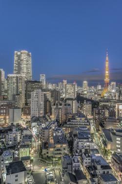 Japan, Tokyo, Roppongi, Skyline at Twilight by Rob Tilley