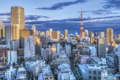 Japan, Tokyo, Roppongi, Sunset Skyline by Rob Tilley