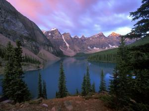Lake Moraine at Dawn, Banff National Park, Alberta, Canada by Rob Tilley