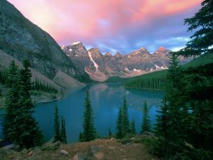 Lake Moraine at Dawn, Banff National Park, Alberta by Rob Tilley