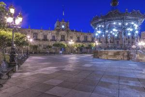 Mexico, Jalisco, Guadalajara, Plaza De Armas at Dawn by Rob Tilley