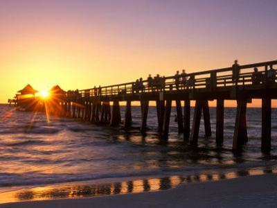 Naples Pier Sunset, Naples, Florida, USA by Rob Tilley