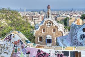 Park Guell Terrace, Barcelona, Spain by Rob Tilley