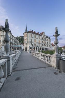 Slovenia, Ljubljana, Triple Bridge at Dawn by Rob Tilley