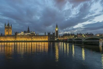 UK, London. Big Ben and Parliament Buildings at sunset by Rob Tilley