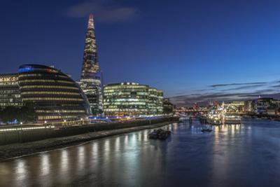 UK, London. South Bank of the Thames River at twilight by Rob Tilley