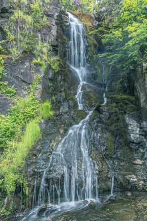 UK, Scotland, Isle of Skye, Dunvegan Castle, Garden Waterfall by Rob Tilley