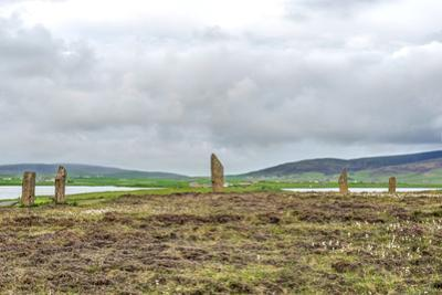 UK, Scotland, Orkney Island. Ring of Brodgar, a ceremonial site dating back to the Neolithic ages e by Rob Tilley