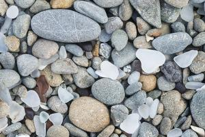 USA, California, Ft. Bragg, Close-up of Glass Beach Pebbles by Rob Tilley