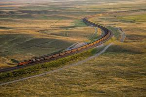 A Train Heads Toward Coal Terminals by Robb Kendrick