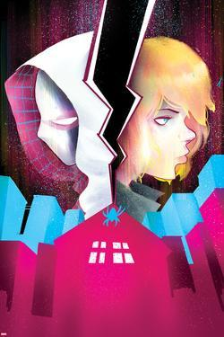 Spider-Gwen #5 Cover Featuring Spider-Gwen, Stacy, Gwen by Robbi Rodriguez