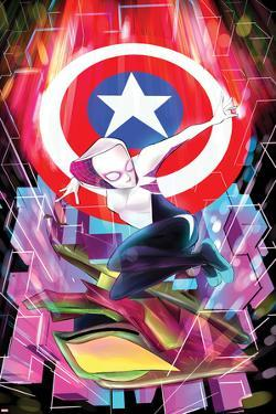 Spider-Gwen No. 6 Cover Featuring Captain America, Spider-Gwen by Robbi Rodriguez